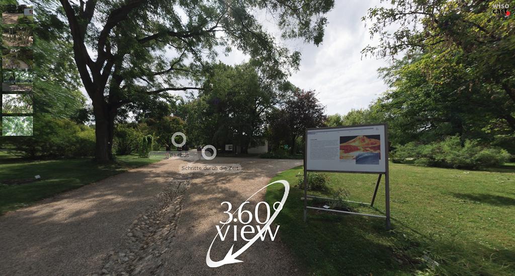 """360 Grad Rundgang durch die Ausstellung """"Schritte durch die Zeit"""" im Botanischen Garten Wien"""