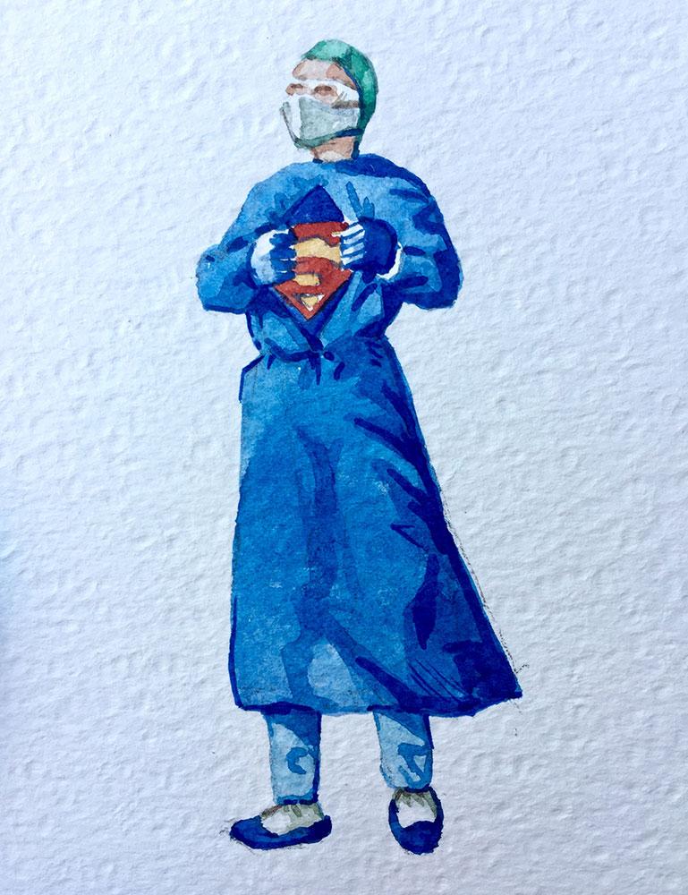 16. 3. 20 Senza titolo (cm 15x10 acquerello su carta copia)