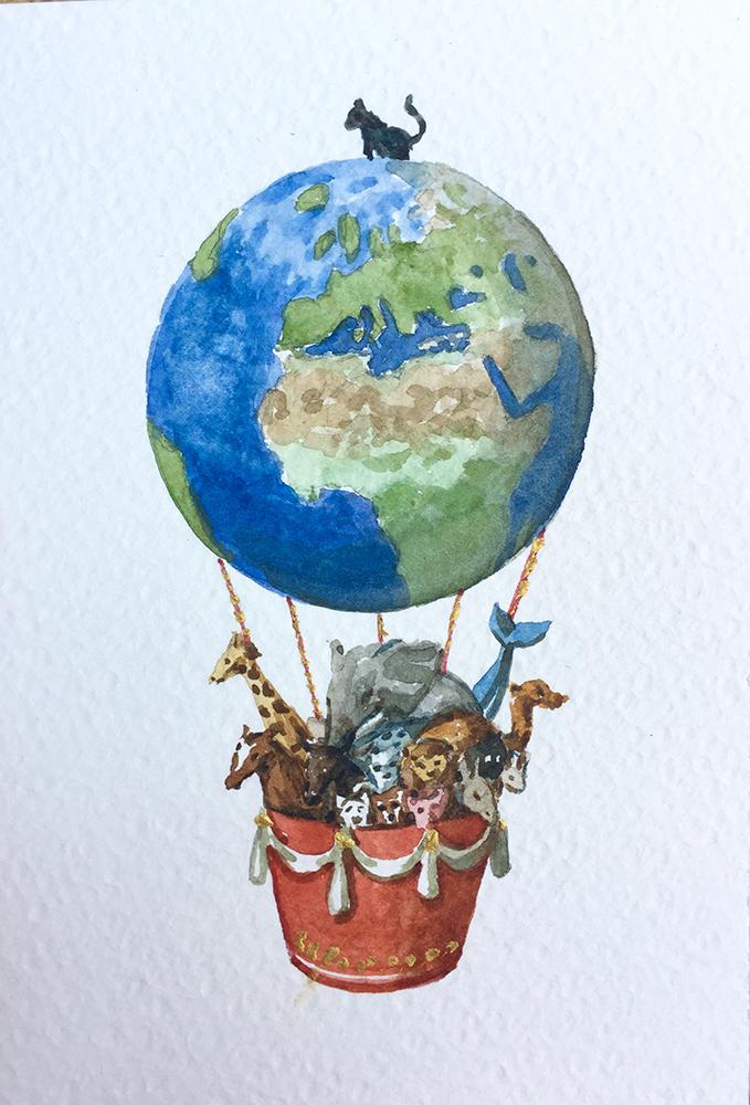 22. 4. 20 Anima(L) Mundi (cm 15x10 acquerello su carta)